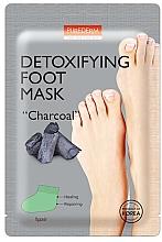 """Kup Oczyszczająca maseczka do stóp z węglem - Purderm Detoxifying Foot Mask """"Charcoal"""""""
