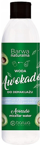 Micelarna woda do demakijażu Awokado - Barwa Avocado Makeup Remover Water — фото N1