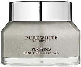 Kup PRZECENA! Oczyszczająca maska do twarzy z zieloną glinką - Pure White Cosmetics Purifying French Green Clay Mask *