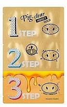 Kup Zestaw plastrów oczyszczających na zatkane pory - Holika Holika Pig Nose Clear Black Head 3-Step Kit Honey Gold