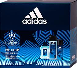 Kup Adidas UEFA Dare Edition - Zestaw (sh/gel 250 ml + deo/spray 150 ml + edt 100 ml)