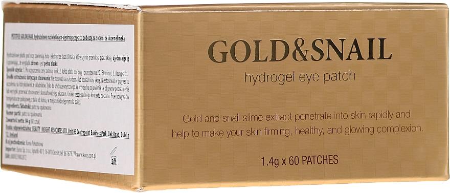 Hydrożelowe płatki pod oczy ze złotem i śluzem ślimaka - Petitfee & Koelf Gold & Snail Hydrogel Eye Patch
