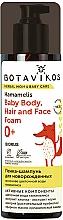 Kup Pianka do mycia włosów i twarzy z oczarem wirginijskim dla niemowląt - Botavikos Baby Body, Hair And Face Foam