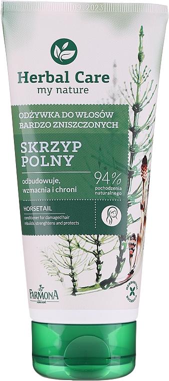 Odżywka do włosów bardzo zniszczonych Skrzyp polny - Farmona Herbal Care Horsetail Conditioner