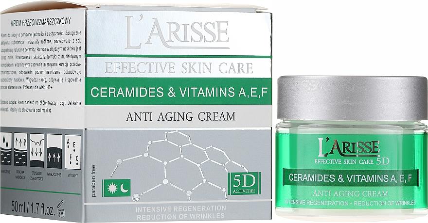 Przeciwstarzeniowy krem z ceramidami i witaminami A, E i F 40+ - AVA Laboratorium L'Arisse Effective Skin Care