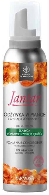 Odżywka w piance z wyciągiem z bursztynu do włosów słabych i pozbawionych objętości - Farmona Jantar