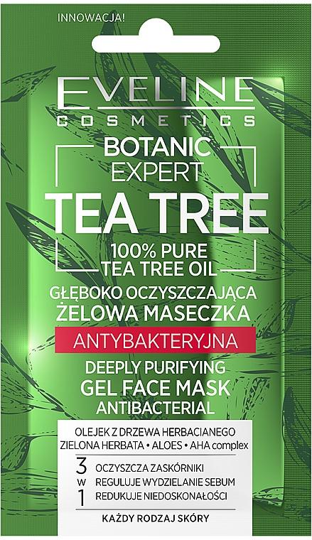 Głęboko oczyszczająca żelowa maseczka antybakteryjna - Eveline Cosmetics Botanic Expert Tea Tree