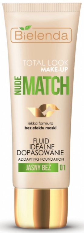Fluid do twarzy - Bielenda Total Look Make-Up Nude Match