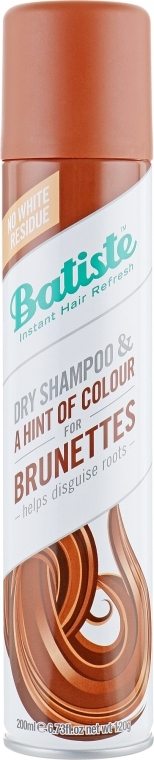 Suchy szampon dla brunetek - Batiste Dry Shampoo Plus with a Hint of Colour Beautiful Brunette