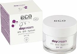 Kup Krem do twarzy na dzień z kwasem hialuronowym - Eco Cosmetics Day Cream With OPC Q10 & Hyaluron SPF10