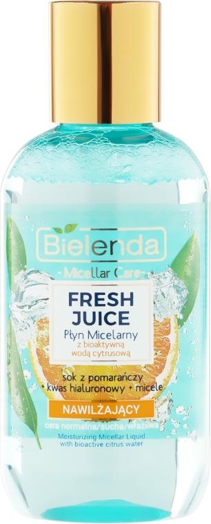 Nawilżający płyn micelarny z bioaktywną wodą cytrusową Pomarańcza - Bielenda Fresh Juice