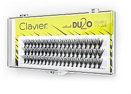 Kup Kępki sztucznych rzęs Podwójna ilość, 9 mm - Clavier DU2O Double Volume
