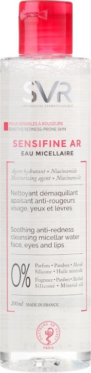 Kojąca woda micelarna do cery naczynkowej do twarzy, oczu i ust - SVR Sensifine AR — фото N1