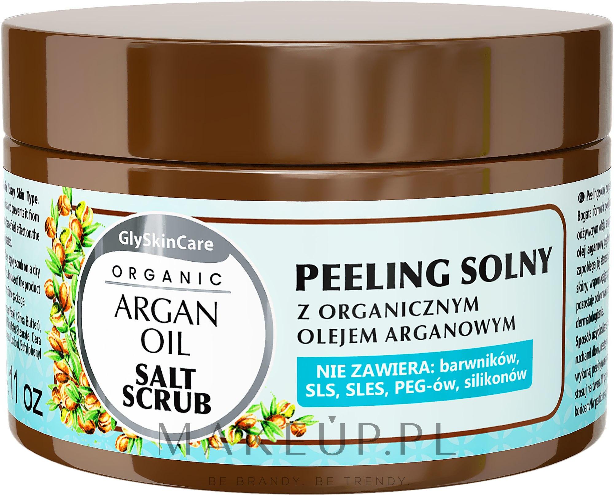 Peeling solny z olejem arganowym - GlySkinCare Argan Oil Salt Scrub — фото 400 g