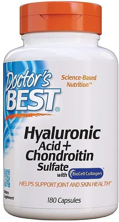Kwas hialuronowy z siarczanem chondroityny i kolagenem na zdrowe stawy - Doctor's Best Hyaluronic Acid with Chondroitin Sulfate Capsules — фото N6
