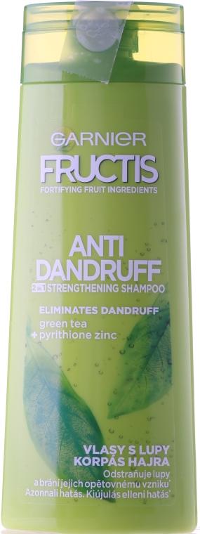 Szampon przeciwłupieżowy 2 w 1 - Garnier Fructis Anti-Dandruff 2in1 Strenghtening Shampoo