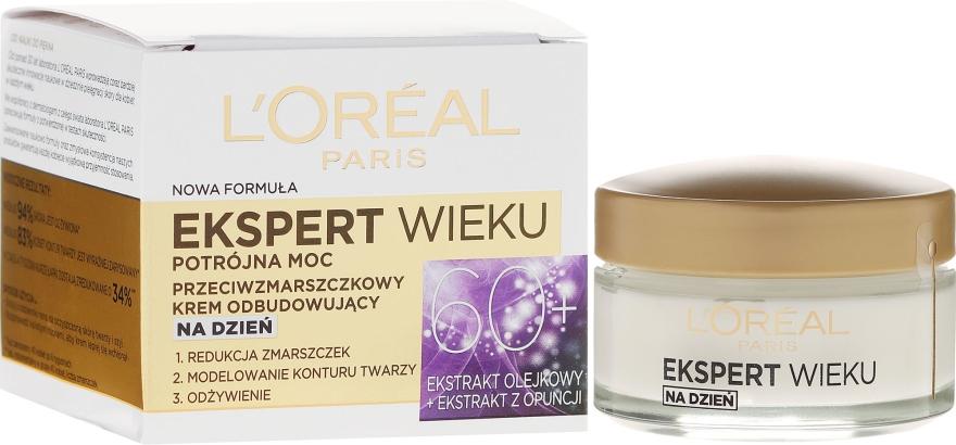 Przeciwzmarszczkowy krem odbudowujący do twarzy na dzień 60+ - L'Oreal Paris Age Specialist Expert Day Cream