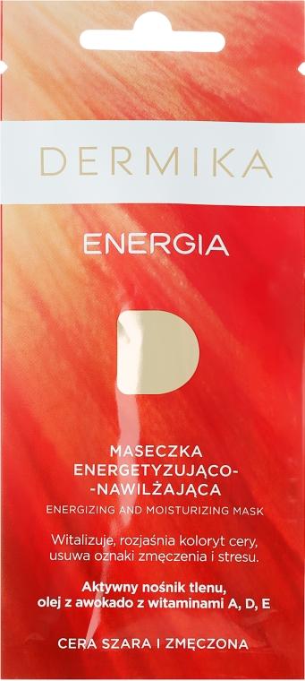 Energetyzująco-nawilżająca maseczka dotleniająca do cery szarej i zmęczonej Energia - Dermika Energizing and Moisturizing Mask — фото N1