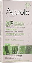 Kup Plastry do depilacji twarzy z woskiem Aloes i mleczko pszczele - Acorelle Hair Removal Strips