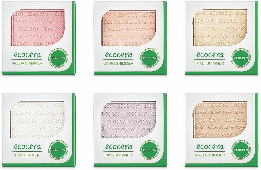 Naturalny rozświetlacz do twarzy - Ecocera Shimmer — фото N5