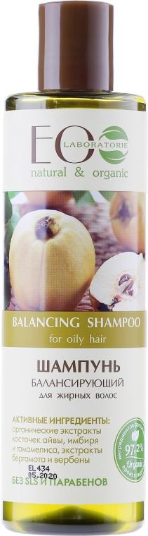 Balansujący szampon do włosów przetłuszczających się - ECO Laboratorie Balancing Shampoo