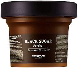 Kup Peeling do twarzy z czarnym cukrem - SkinFood Black Sugar Perfect Essential Scrub 2X