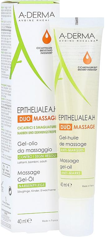 Żelowy olejek do masażu przeciw bliznom i rozstępom - A-Derma Epitheliale AH Massage — фото N5