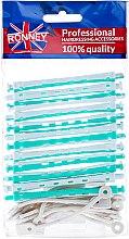Kup Wałki do zakręcania włosów na zimno 6/91 mm, biało-zielone - Ronney Professional