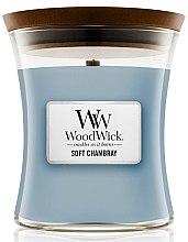 Kup Świeca zapachowa w szkle - WoodWick Hourglass Candle Soft Chambray