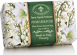 Kup Naturalne mydło w kostce Białe kwiaty - Saponificio Artigianale Fiorentino White Flowers Scented Soap