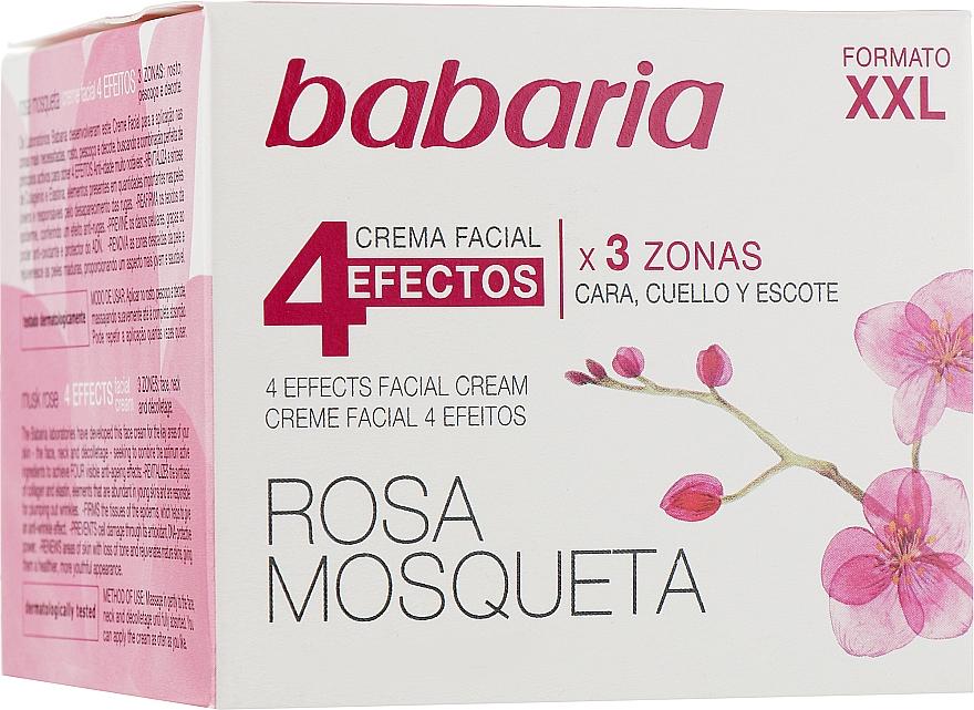 Odmładzający krem do twarzy i szyi 4 efekty - Babaria Rosa Mosqueta 4 Effects Facial Cream — фото N1