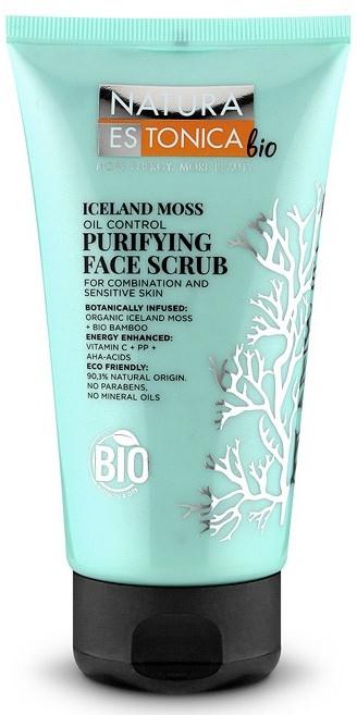 Peeling do twarzy Islandzki mech - Natura Estonica Bio Iceland Moss Face Scrub