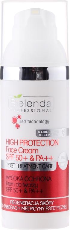 Regenerujący krem ochronny do twarzy SPF 50 - Bielenda Professional Post Treatment Care High Protection Face Cream PA++ — фото N1