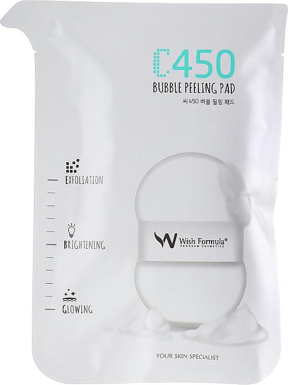 Peelingujące gąbki do ciała z witaminą C - Wish Formula C450 Bubble Peeling Pad — фото N1