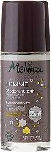 Kup Dezodorant dla mężczyzn z olejem z baobabu i wodą cytrynową - Melvita Homme 24H Deodorant