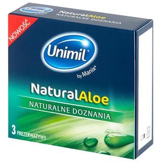 Prezerwatywy, 3 szt. - Unimil Natural Aloe — фото N1