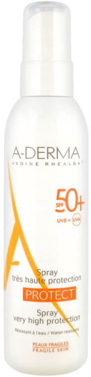 Spray przeciwsłoneczny - A-Derma Protect Spray Very High Protection SPF 50+ — фото N1