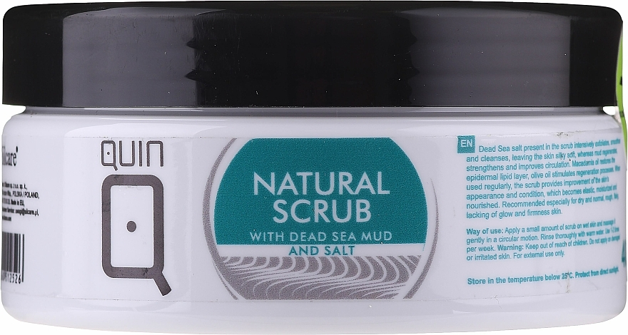 Peeling do ciała - Silcare Quin Natural Scrub with Dead Sea Mud & Salt — фото N1