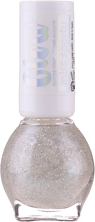 Lakier do paznokci - Miss Sporty Glow Glitter Coat — фото N1