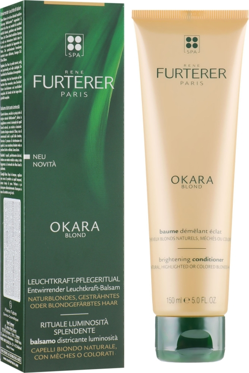 Balsam do naturalnych jasnych i farbowanych włosów - Rene Furterer Okara Blond Brightening Conditioner — фото N1