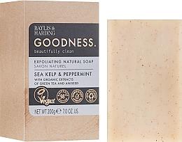 Naturalne mydło peelingujące w kostce - Baylis & Harding Goodness Sea Kelp & Peppermint Natural Bar Soap — фото N1
