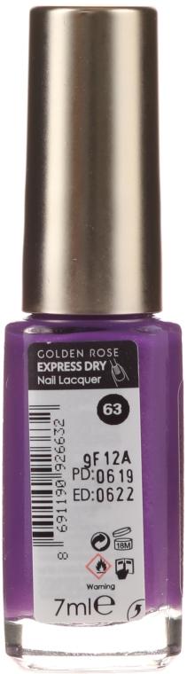 Szybkoschnący lakier do paznokci - Golden Rose Express Dry 60 Sec — фото N2