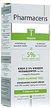 Kup PRZECENA! Krem z 5% kwasem migdałowym na noc - Pharmaceris T Sebo-Almond-Peel Exfoliting Night Cream *