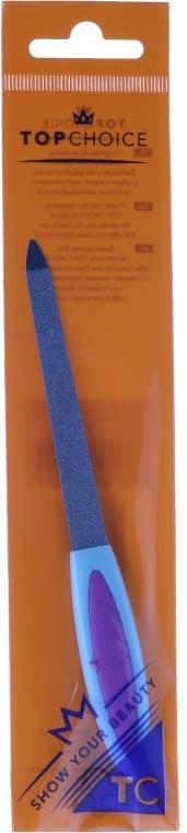 Szafirowy pilnik do paznokci 15 cm, 77111, fioletowo-niebieski - Top Choice — фото N1