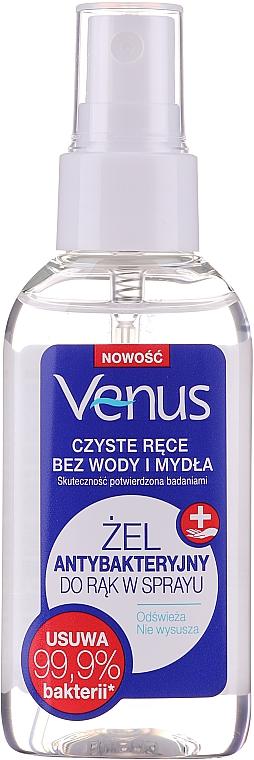Antybakteryjny żel w sprayu do rąk - Venus Antibacterial Hand Gel Spray — фото N1