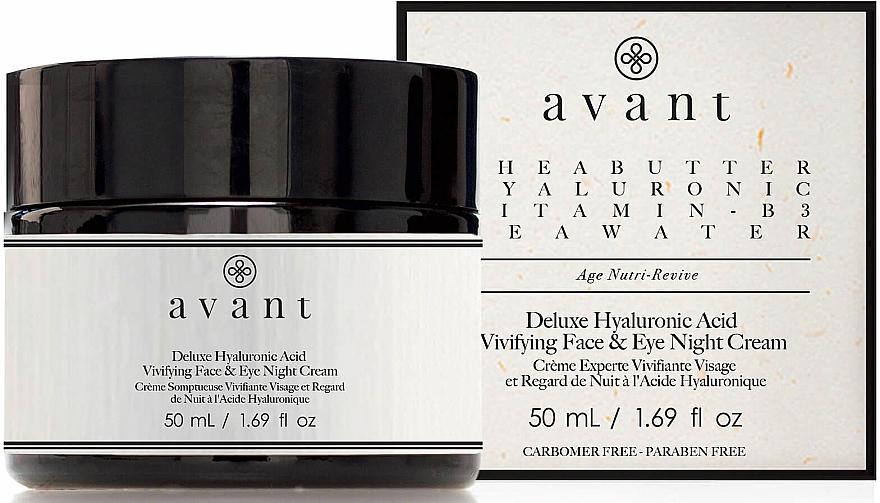 Krem na noc z kwasem hialuronowym - Avant Skincare Deluxe Hyaluronic Acid Night Cream — фото N1
