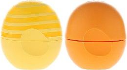 Zestaw balsamów do ust Skórka pomarańczy + Nuta cytryny - EOS Spring Collection (2 x lip balm 7 g) — фото N2