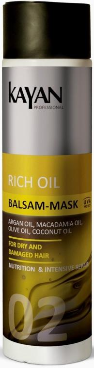 Balsam-maska do włosów suchych i zniszczonych - Kayan Professional Rich Oil Balsam-Mask