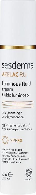 Rozjaśniająca emulsja do twarzy SPF 50 - SesDerma Laboratories Azelac Luminous Fluid Cream — фото N2