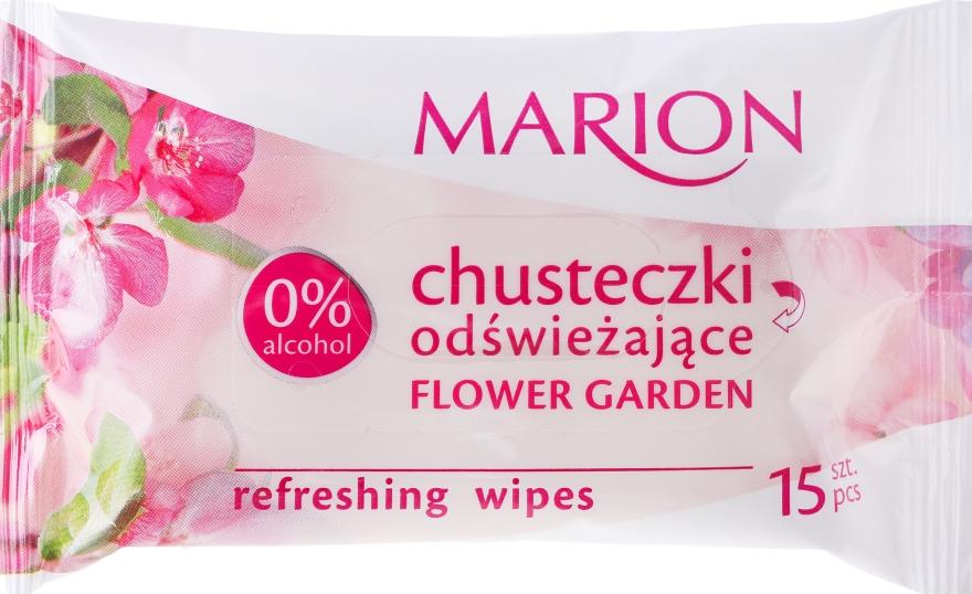 Chusteczki odświeżające Flower Garden, 15 szt. - Marion